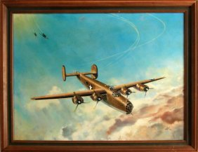 Dallas Lloyd 1978 B-17 Flying Fortress Painting