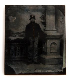 Civil War Ambrotype Of Young Private Named