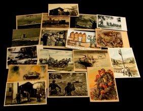 Mixed Lot Of German Wwii Postcards Panzer Heer