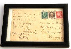 1933 Postcard Ernst Rohn To Karl Wolff