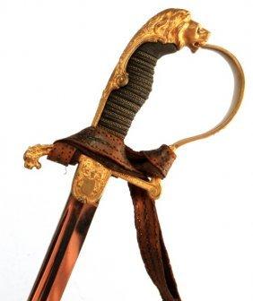 Wwi Royal Wurtemberg Artillery Lion Head Sword