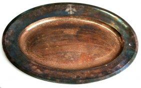 Adolf Hitler Large Platter By Wellner Silver Plate