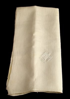 Wwii Adolf Hitler Linen Napkin Embroidered