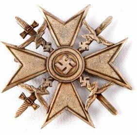 Wwii German Third Reich Spanish Cross In Silver