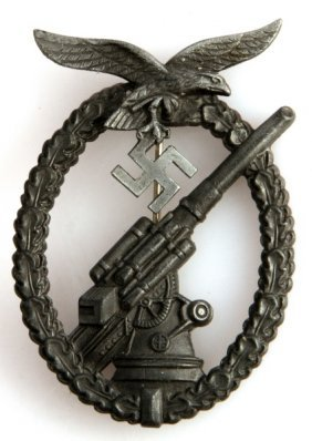 Wwii German Third Reich Luftwaffe Flak Badge