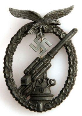 Wwii German Third Reich Luftwaffe Flak Badge