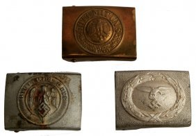 Grouping Of Three Wwii Belt Buckles