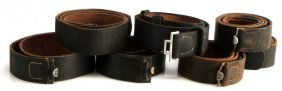 Lot Of 7 Wwii German Leather Belts No Buckles