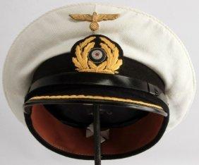 Wwii Third Reich Kriegsmarine Lieutenant Visor Cap