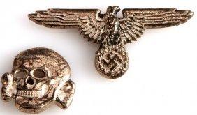Wwii Third Reich German Ss Visor Insignia