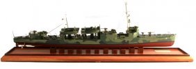 Wwii Uss Ward Model Ship Made By John Ficklen