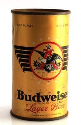 Rare Budweiser Gold Flat Top Eagle Claw Beer Can