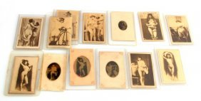 Antique Nude Tintype & Cdv Photograph Lot