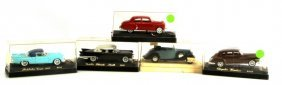 Grouping Of 5 Classic Vintage Solido Car Models