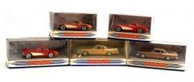 5 Dinky Toy Cars- 2 Studebaker 3 Chevrolet