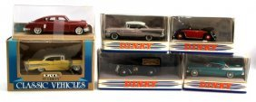Lot Of 6 Dinky, Solido, And Ertl Classic Toy Cars