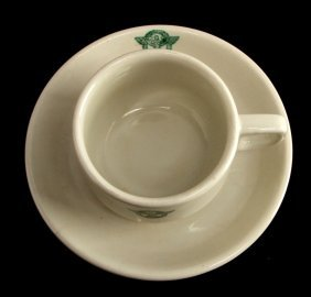 German Wwii Police Ceramic Cup With Saucer
