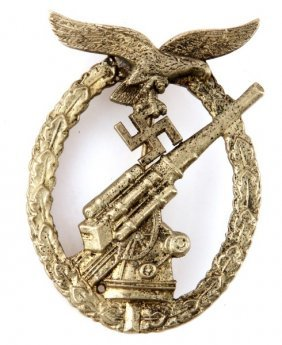 Wwii German Luftwaffe Flak Anti Aircraft Badge