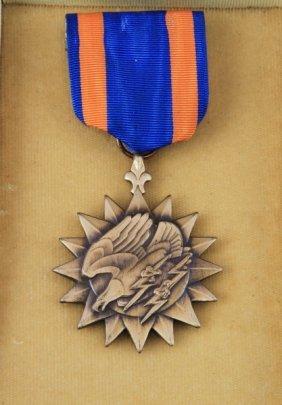 Wwii Air Medal In Orignal Black Coffin Case