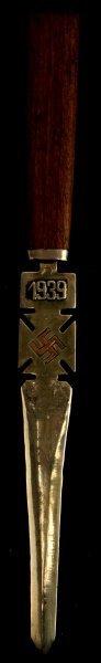 German Wwii Third Reich 1939 Letter Opener