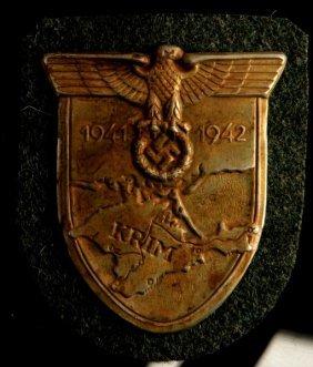 German Third Reich Wwii Krim Shield