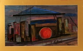 John Marin (american, 1870-1953) Acrylic On Paper