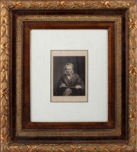 Sir Edwin Henry Landseer Portrait Engraving