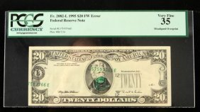 Error Banknote Extreme Left Shift Overprint