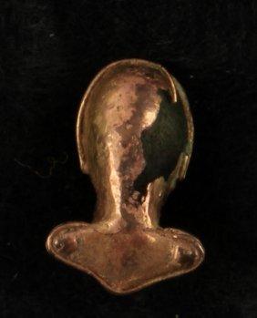 Precolumbian Tairona Frog Pendant Rattle W/ Coa