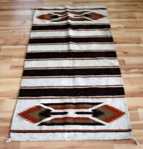 Antique Early 20th Century Navajo Striped Blanket
