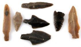 Pre Columbian Belize Arrowhead Lot Of 6