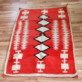 Antique Navajo Traditional Rug 61 By 40 Inches