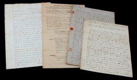 Antique Estate Document Lot Slave Disbursement