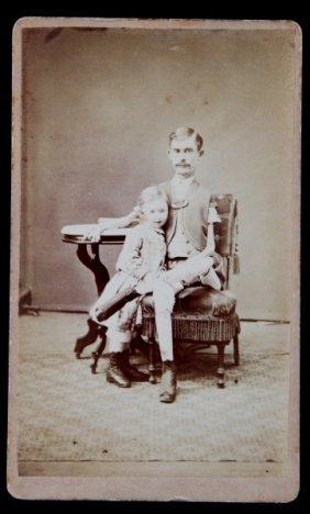 Isaac Sprague P.t Barnum Circus Thin Man Cdv Photo