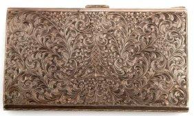 Italian Hallmark Silver Fasces Cigar Case