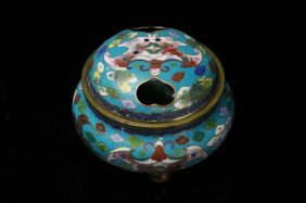 Antique Chinese Cloisomn Incense Burner