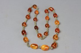 Antique Chinese Amber Chain