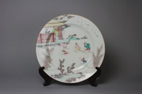Antique Early Chinese Porcelain Charger