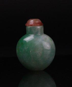 Antique Chinese Jadeite Snuff Bottle