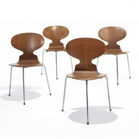 Arne Jacobsen Ant Chairs, Set Of Four