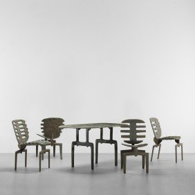 Terence Main Falls Table And Fourth Frond Chairs
