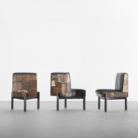 Paul Evans Dining Chairs, Set Of Six