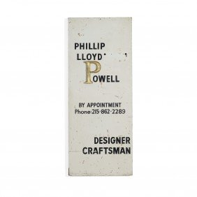 Phillip Lloyd Powell Studio Sign