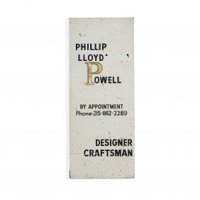 Phillip Lloyd Powell Studio Sign