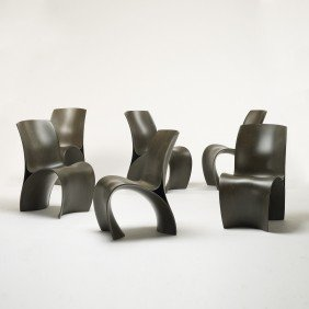 Ron Arad Three Skin Chairs, Set Of Six