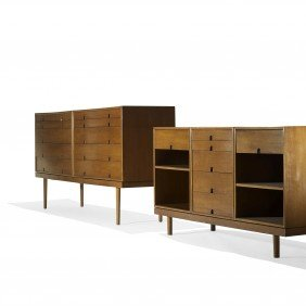 Charles Eames And Eero Saarinen Cabinets, Pair