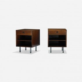 Nelson & Associates Thin Edge Nightstands, Pair