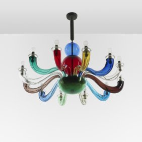 Gio Ponti Important And Early Chandelier