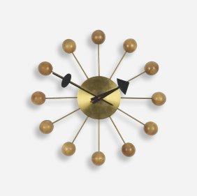 George Nelson & Associates Ball Wall Clock, Model 4755b