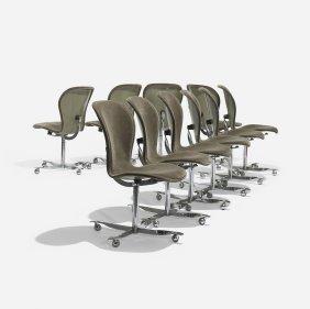 Gideon Kramer Ion Chairs, Set Of Ten